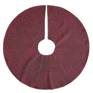 Jupe rouge foncé élégante d'arbre jupon de sapin en polyester brossé