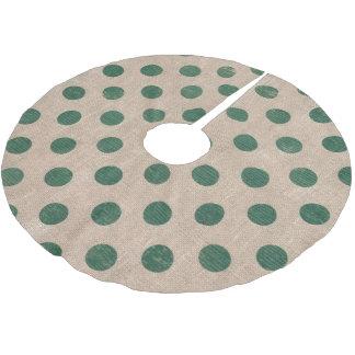 jupe verte rustique d'arbre de polkadot jupon de sapin en polyester brossé