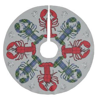 Jupon De Sapin En Polyester Brossé Ancre N.S. Christmas de flocon de neige de homard