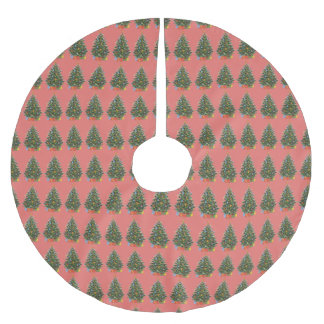 Jupon De Sapin En Polyester Brossé Arbre de Noël