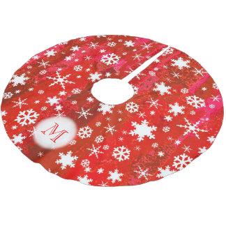 Jupon De Sapin En Polyester Brossé Arrière - plan vibrant élégant de rouge de motif