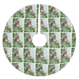 Jupon De Sapin En Polyester Brossé Belle jupe de fête d'arbre de Noël de Robin