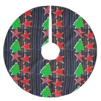 Jupon De Sapin En Polyester Brossé Biscuits de Noël