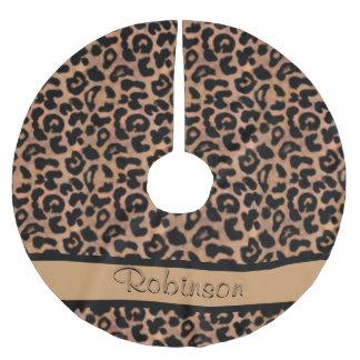 Jupon De Sapin En Polyester Brossé Coutume de motif de léopard