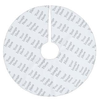 Jupon De Sapin En Polyester Brossé Créez vos propres jupe carrelée d'arbre d'image