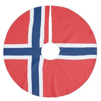 Jupon De Sapin En Polyester Brossé Drapeau de la Norvège