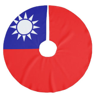 Jupon De Sapin En Polyester Brossé Drapeau de Taïwan