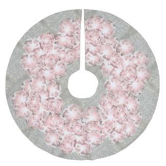 Jupon De Sapin En Polyester Brossé Gemmes poussiéreuses de rose rose sur le gris avec