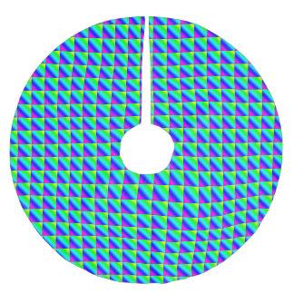 Jupon De Sapin En Polyester Brossé Gradient diagonal d'arc-en-ciel carrelé