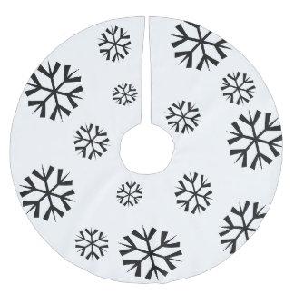 Jupon De Sapin En Polyester Brossé Jupe d'arbre de flocon de neige de vacances