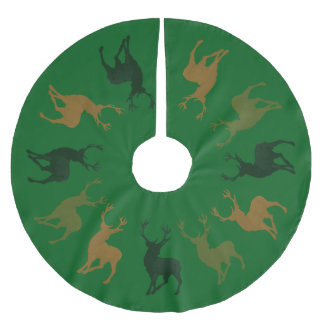 Jupon De Sapin En Polyester Brossé Jupe d'arbre de Noël de Forest Green de chasseur