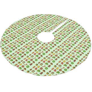 Jupon De Sapin En Polyester Brossé Jupe d'arbre de Noël de vacances de biscuits de