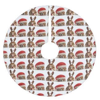 Jupon De Sapin En Polyester Brossé Jupe de fête d'arbre de Noël de bouledogue mignon
