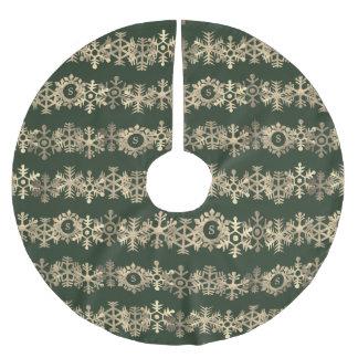 Jupon De Sapin En Polyester Brossé Jupe faite sur commande vert-foncé et d'or de