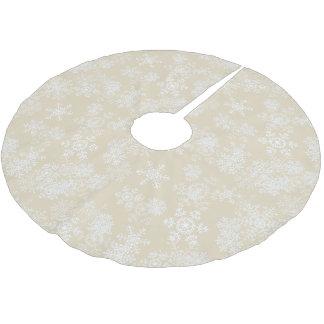 Jupon De Sapin En Polyester Brossé Jupe-Flocons de neige d'arbre