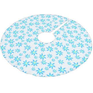 Jupon De Sapin En Polyester Brossé Jupe florale bleue d'arbre d'amusement