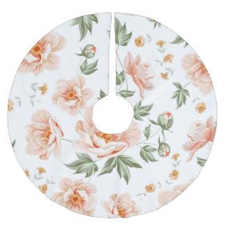 Jupon De Sapin En Polyester Brossé Jupe rose d'arbre de roses