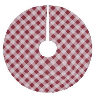 Jupon De Sapin En Polyester Brossé Jupe rouge rustique d'arbre de Noël de pays de