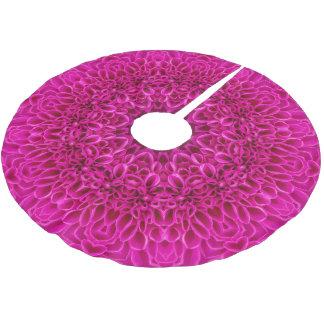 Jupon De Sapin En Polyester Brossé Jupe vintage d'arbre de kaléidoscope de fleur rose