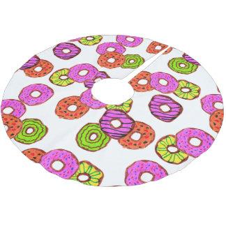 Jupon De Sapin En Polyester Brossé le beignet givré coloré de butées toriques avec
