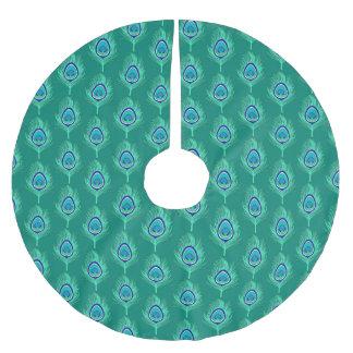 Jupon De Sapin En Polyester Brossé Le paon fait varier le pas, Aqua sur la