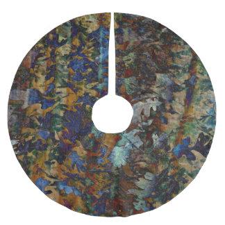 Jupon De Sapin En Polyester Brossé Les beaux-arts laissent la jupe d'arbre