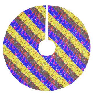 Jupon De Sapin En Polyester Brossé Les blocs constitutifs colorés