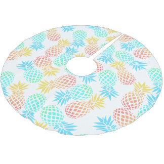 Jupon De Sapin En Polyester Brossé motif coloré tropical d'ananas d'été élégant