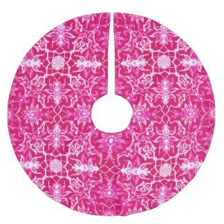 Jupon De Sapin En Polyester Brossé Motif de Chinois de Nouveau d'art - rose de