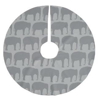 Jupon De Sapin En Polyester Brossé Motif de silhouettes d'éléphant asiatique