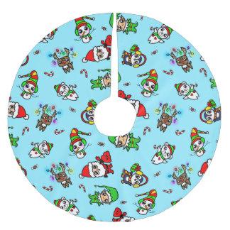 Jupon De Sapin En Polyester Brossé Motif doux de caractère de Noël de Kawaii