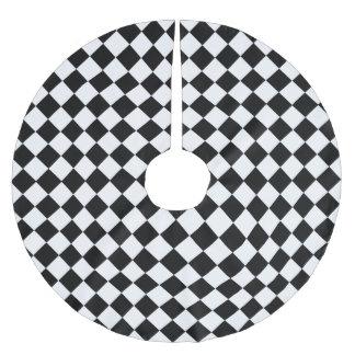 Jupon De Sapin En Polyester Brossé Motif noir et blanc de diamant par Shirley Taylor