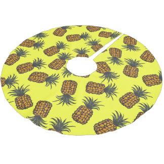 Jupon De Sapin En Polyester Brossé motif tropical peint à la main coloré d'ananas