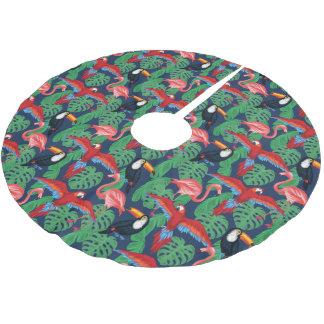 Jupon De Sapin En Polyester Brossé Oiseaux tropicaux dans des couleurs lumineuses