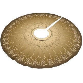 Jupon De Sapin En Polyester Brossé Or de rangée de remous sur l'or