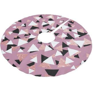 Jupon De Sapin En Polyester Brossé Parties scintillantes roses d'or de triangles