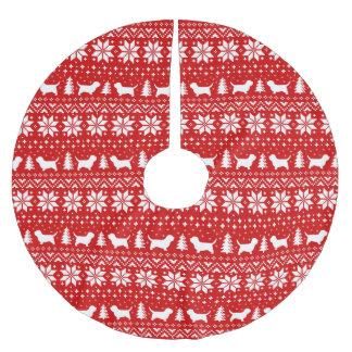 Jupon De Sapin En Polyester Brossé Petit rouge de motif de Noël de Vendeen de griffon