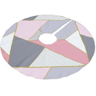 Jupon De Sapin En Polyester Brossé Pois géométrique élégant de rayures en pastel