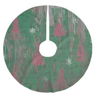 Jupon De Sapin En Polyester Brossé vacances rustiques d'arbre de Noël de jupe d'arbre