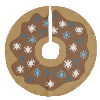 Jupon De Sapin Imitation Lin Le bleu de beignet de Noël de flocon de neige