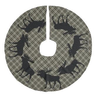 Jupon De Sapin Imitation Lin Orignaux de plaid de brun de Noël de pays de jupe