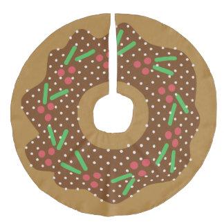 Jupon De Sapin Imitation Lin Rouge de beignet de Noël de houx + Le vert arrose
