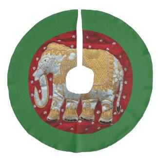 Jupon De Sapin Imitation Lin Rouge embelli et or d'éléphant d'Asie