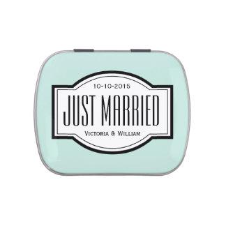 Juste cadeau marié de bidon de faveur de mariage boites de bonbons jelly belly