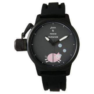 Juste cinq plus minute le porc somnolent mignon montres bracelet