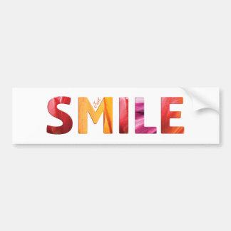 Juste citation heureuse 04 de sourire autocollant de voiture