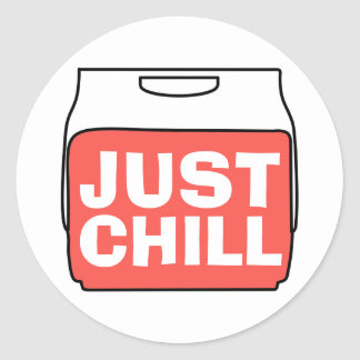 Juste froid sticker rond