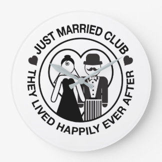 Juste horloge personnalisable mariée de mariage