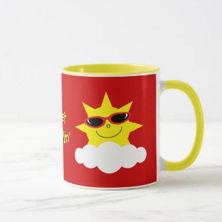 Juste les soleils de Chillin avec des lunettes de Mug