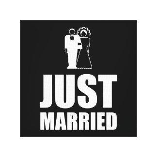 Juste marié épousant le marié de jeune mariée toiles